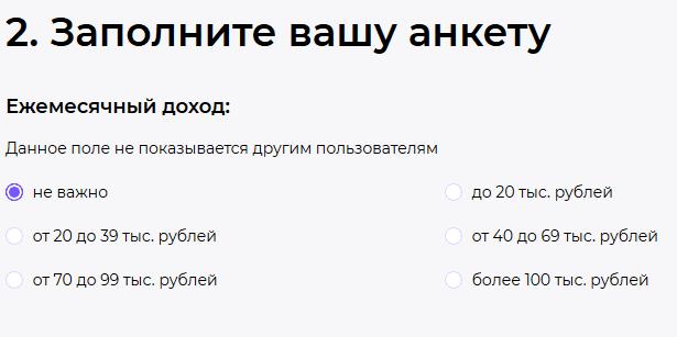 Ежемесячный доход на Teamo ru