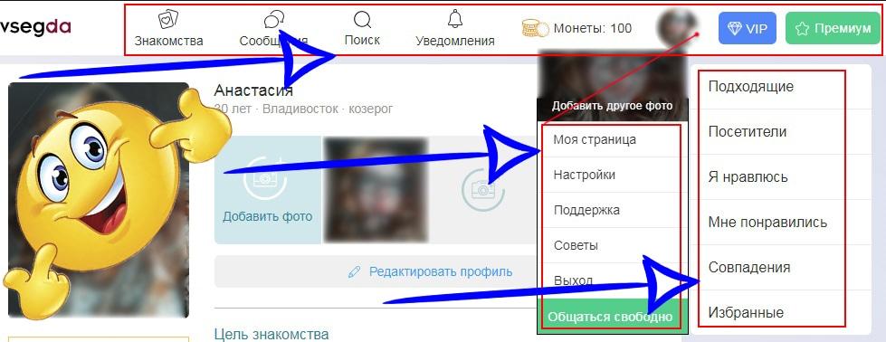 Функционал сайта Navsegda