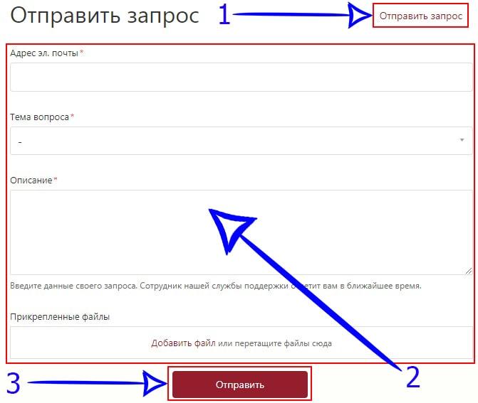 Отправка запроса на сайте Navsegda
