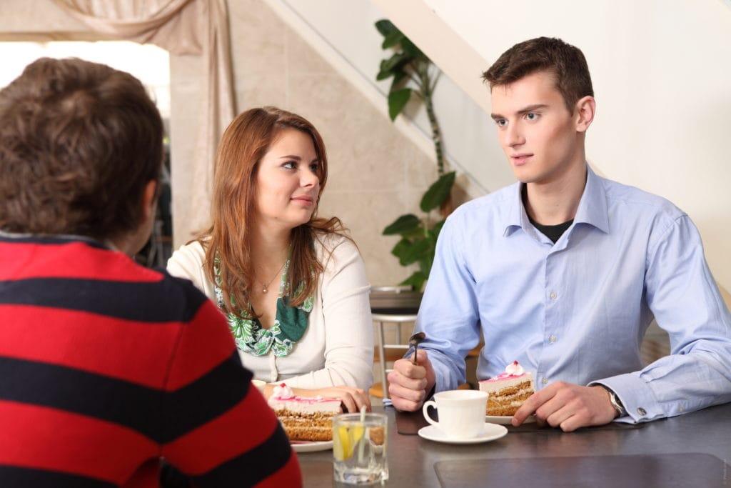 Ужин с родителями девушки
