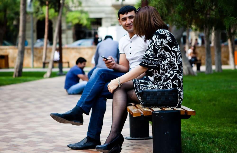 Азербайджанки на улице