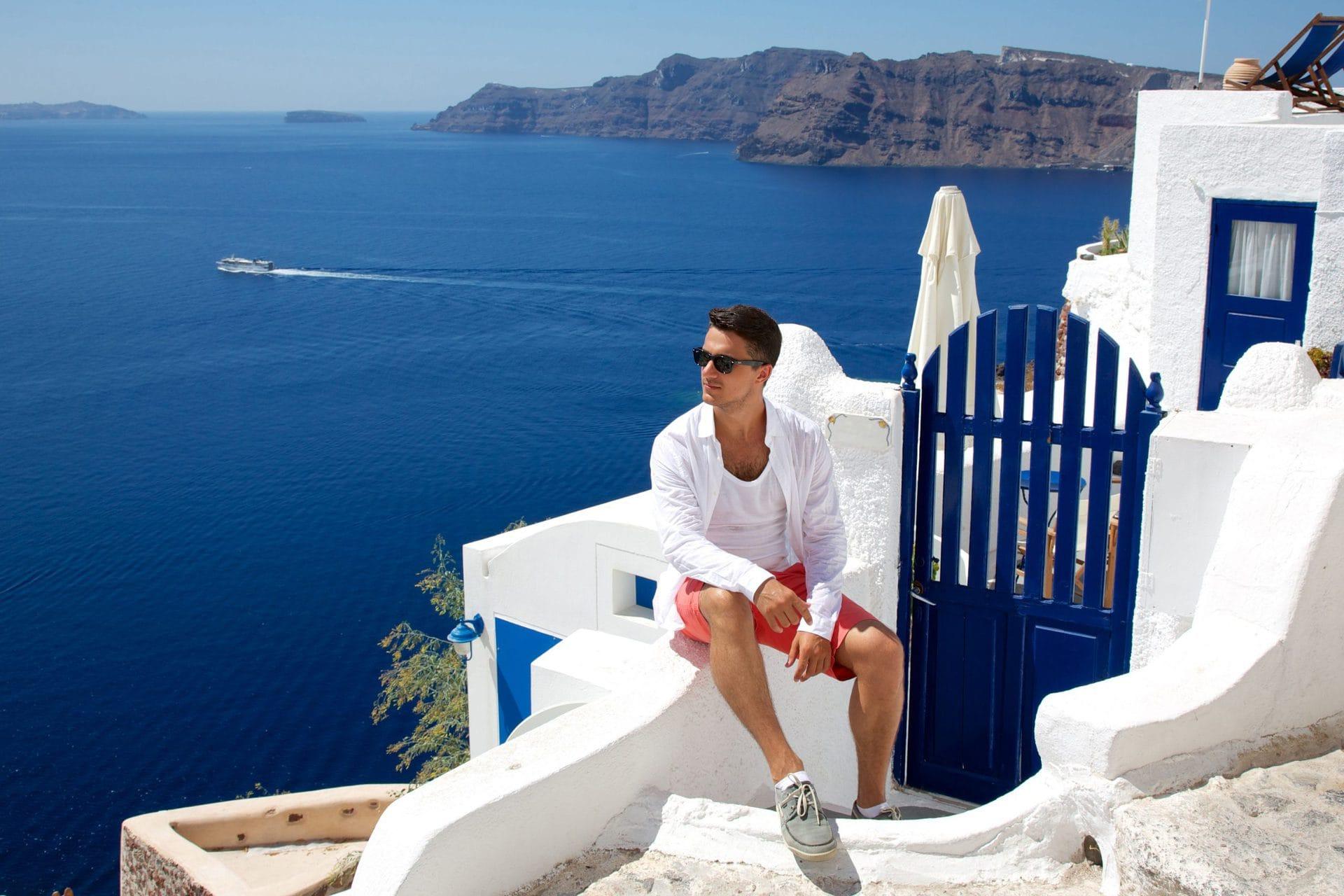 Парень в Греции