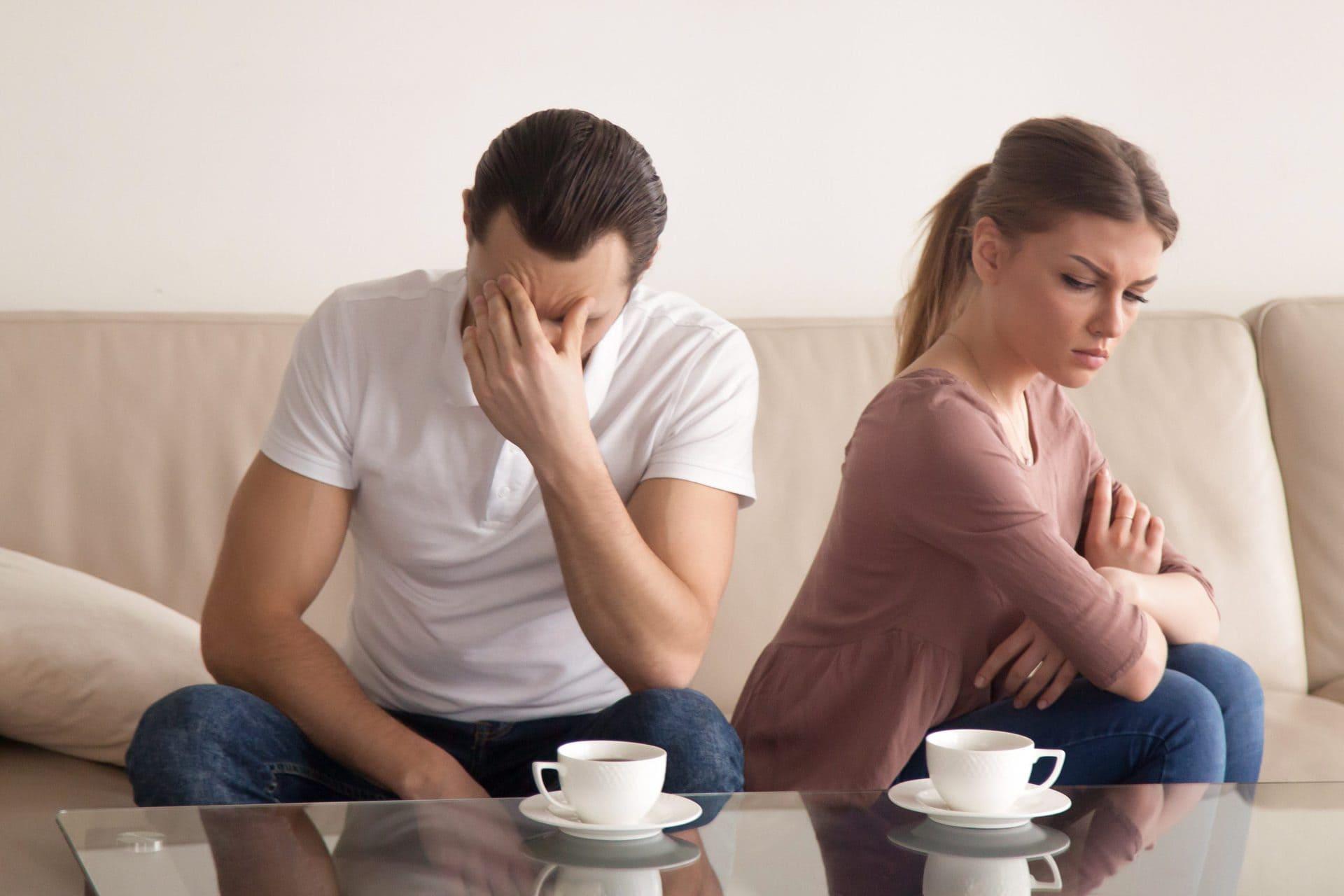 Жена недовольна мужем