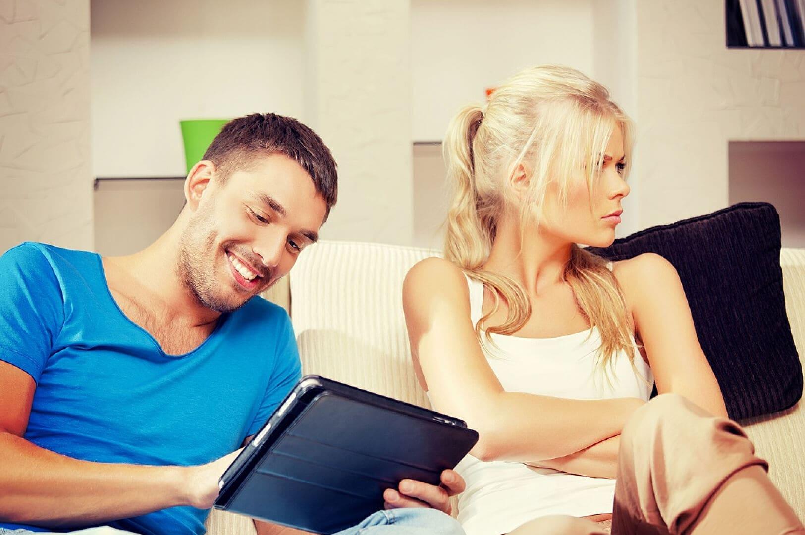 Мужчина и женщина интернет